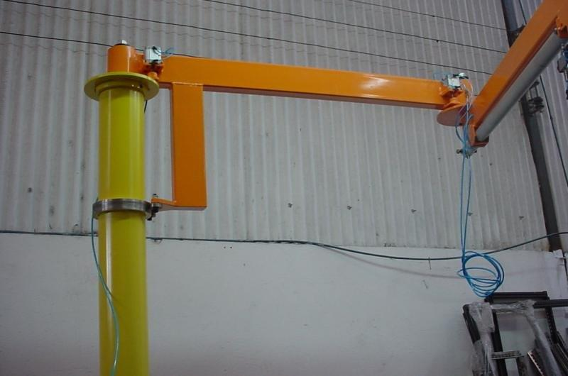 Braço giratorio com talha elétrica